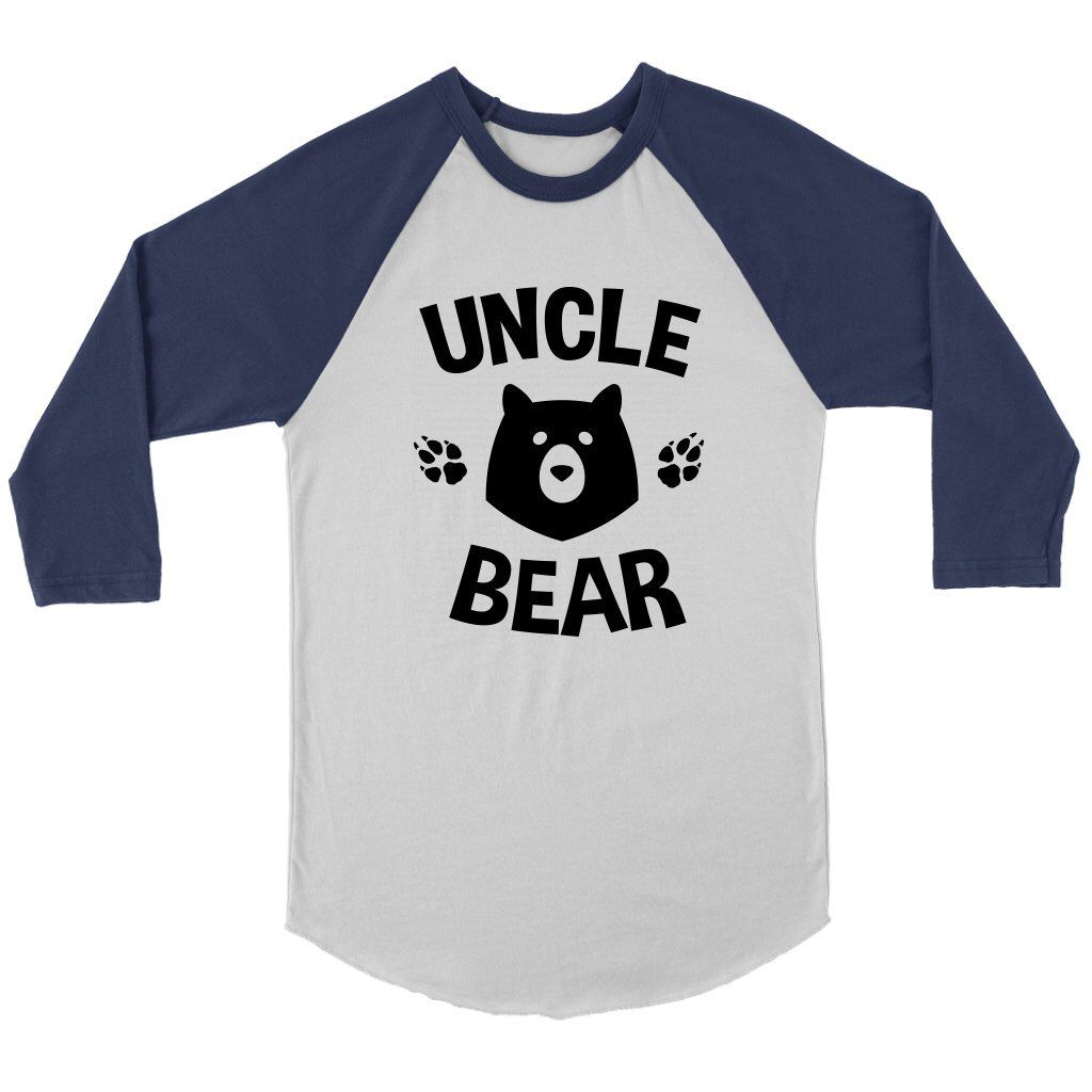 14ef5b8c1 Excited to share this item from my #etsy shop: Uncle Bear 3/4 Sleeve Raglan  Shirt- Uncle Bear Shirt, Uncle T-shirt, Matching Family Shirts, Uncle  Gifts, ...