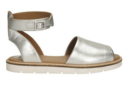 228267042d5 Womens Casual Sandals - Lydie Hala in Silver Leather from Clarks shoes