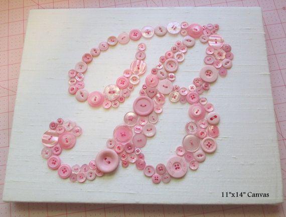 baby nursery wall art  bouton lettre b monogramme sur soie  art pari u00e9tal enfants  toile ou pr u00eat