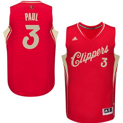 0b4ed4a13 Clippers  3 Chris Paul Red 2015-2016 Christmas Day Stitched NBA Jersey
