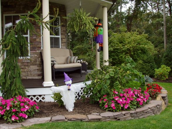 wrap porch landscaping