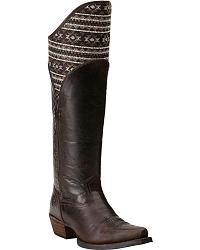 Ariat Caldera Pendleton Tribal Mocha Riding Boots - Extended Calf