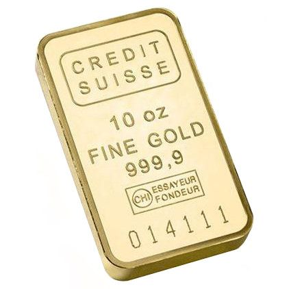 10 Oz Credit Suisse Gold Bar New W Assay Gold Bullion Bars Buy Gold And Silver Gold Bar