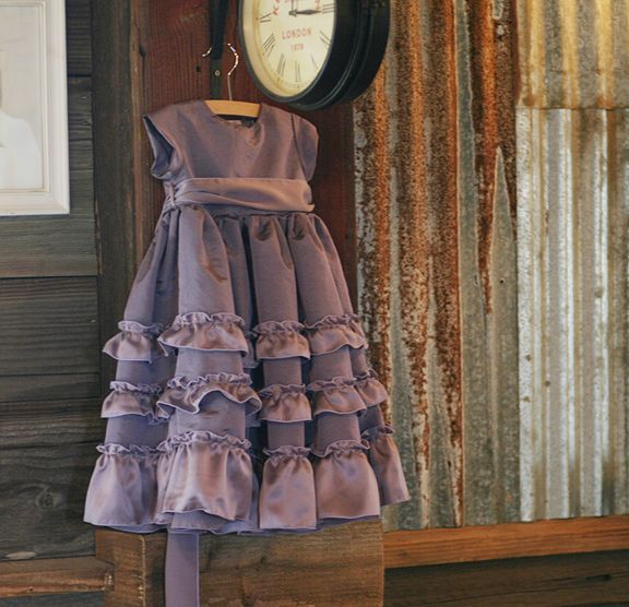 so in love with this dress. Sadie girl looks so good in purple.
