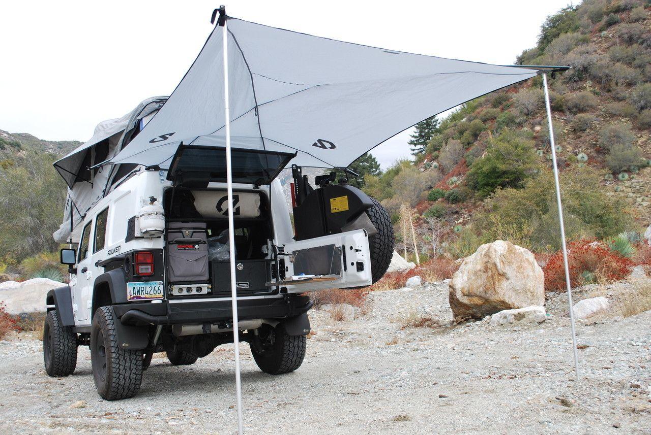 At Overland Equipment Habitat Awning Tent Camping Hacks Jeep Camping Tent Camping