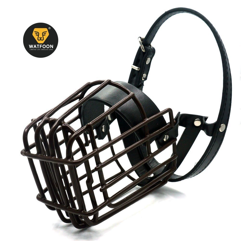 WATFOON - Metal Wire Basket Dog Muzzle for Large and Medium Dogs ...