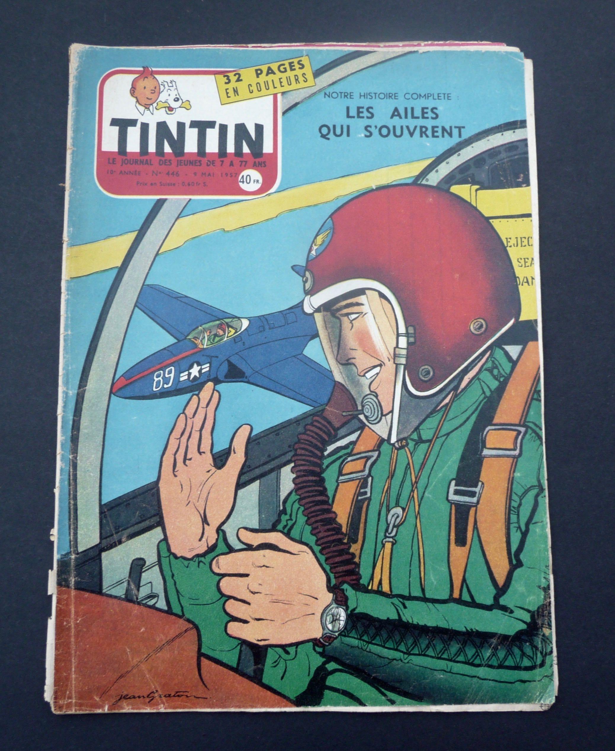 Journal Tintin 10e Annee N 446 9 Mai 1957 Edition Etsy Tintin Comic Books Comic Book Cover