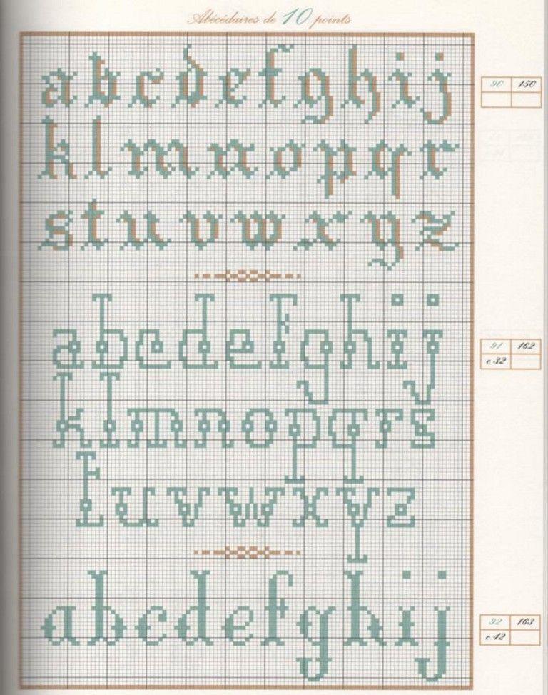 ricami e schemi a punto croce gratuiti alfabeti punto