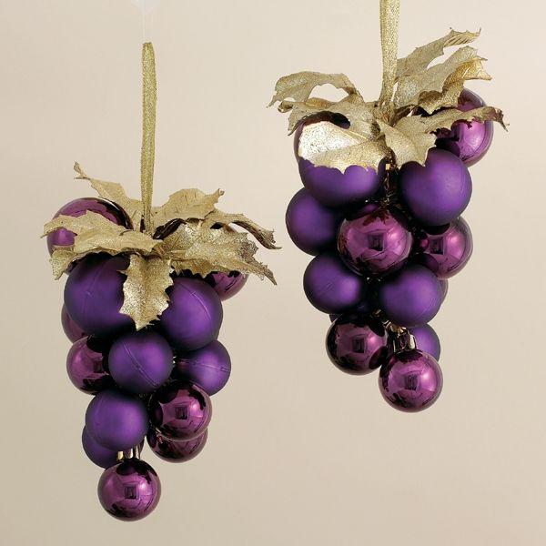 Purple Grapes Cluster Christmas Ball Ornaments - Purple Grapes Cluster Christmas Ball Ornaments Christmas Pinterest