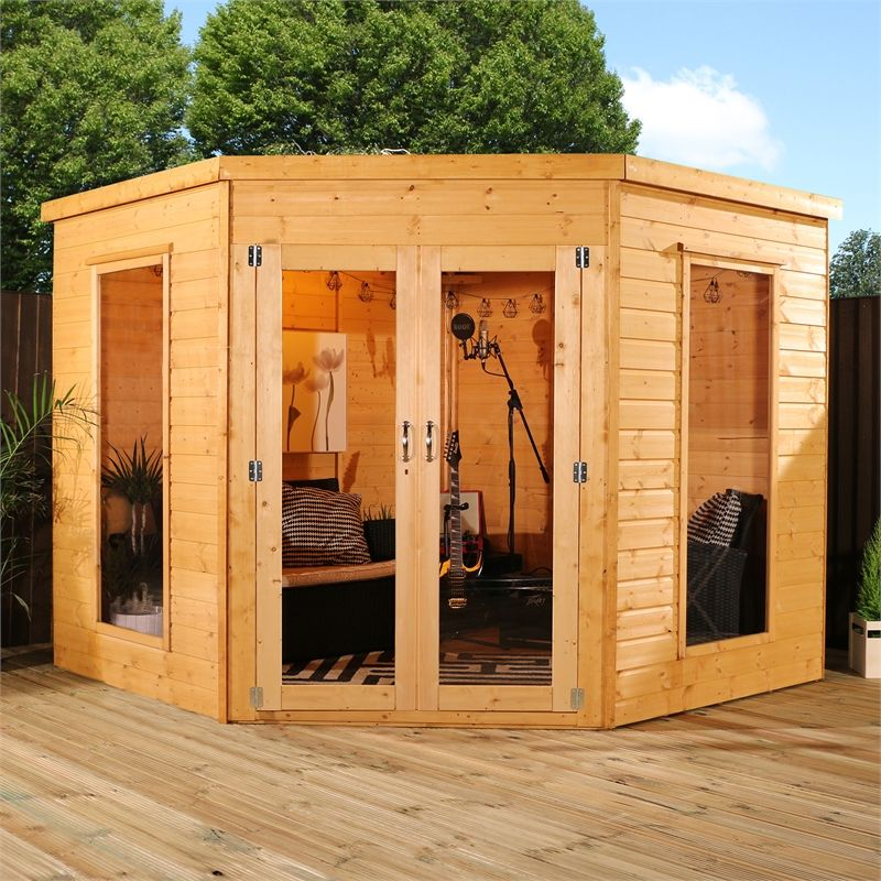 Mercia Installation Included 8x8ft Corner Summerhouse Corner Summer House Summer House Garden Summer House