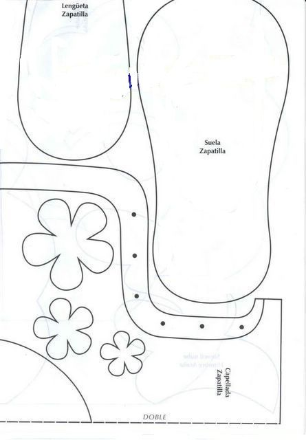 plantillas zapatillas goma Goma eva patrones Goma goma eva 10961e