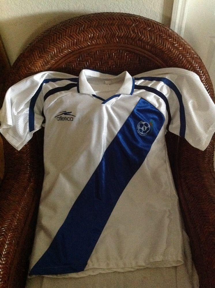 Vintage atletica Guatemala soccer/futbol white jersey size