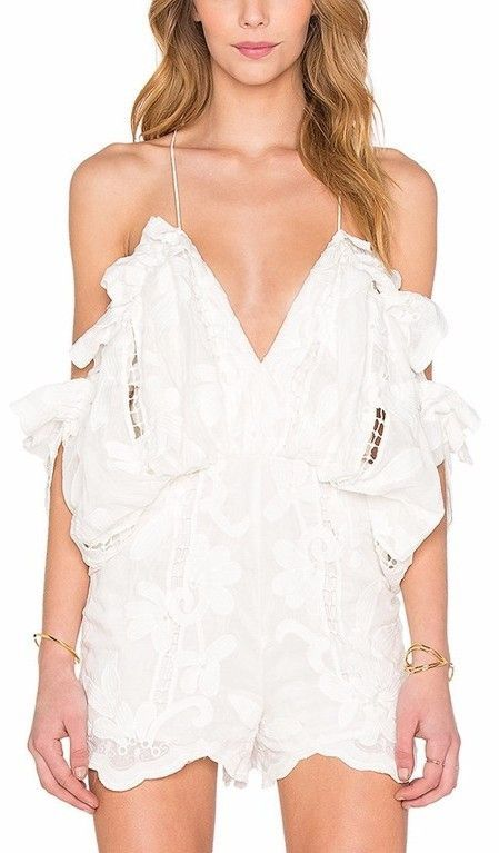 e5b92027dec  Shake it Off  Playsuit- in White