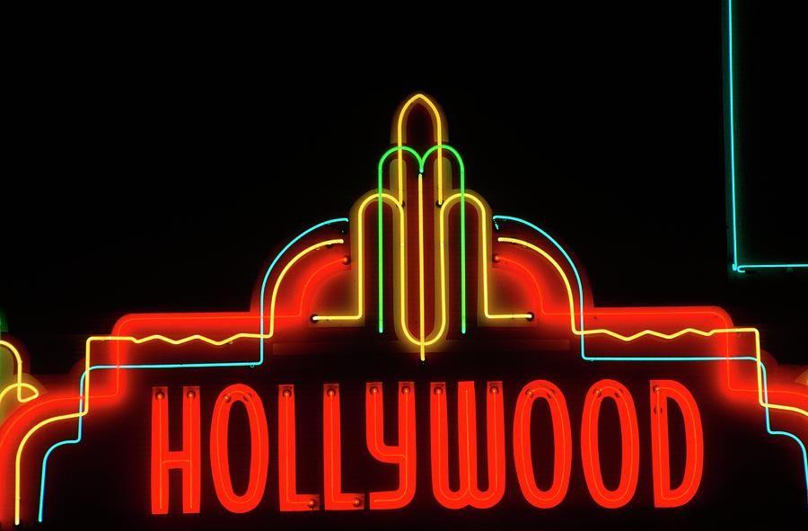 "Neon Signs Los Angeles Hollywood Neon Sign Los Angeles California"" Canvas Print  Canvas"