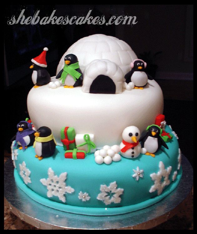 Christmas Cake Ideas With Penguins : Love this alternative to a traditional Christmas cake ...