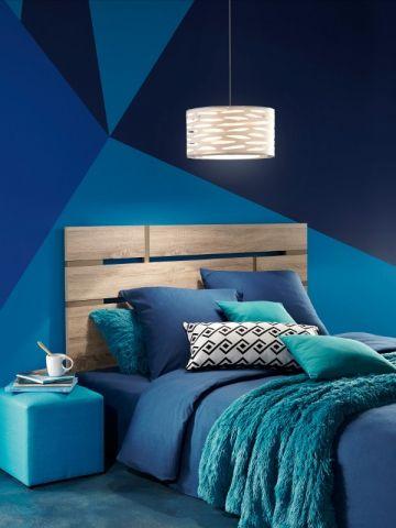 Bleu canard  total look dans toute la maison Chambres, Bleu et
