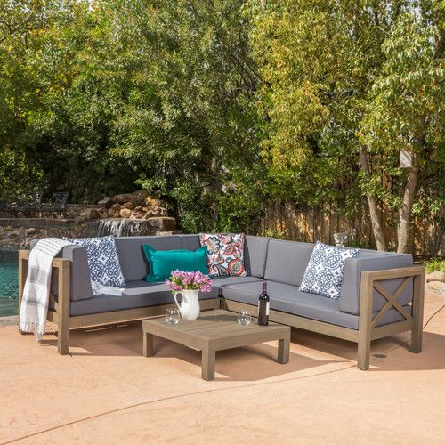 found it at joss u0026 main paxton 4 piece outdoor seating group with cushion
