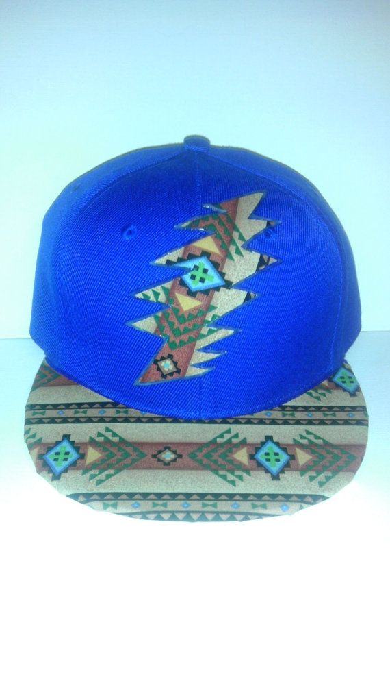 Native Print 13 Bolt Grateful Dead Custom Hat by CloudyButClear ... ac384225493