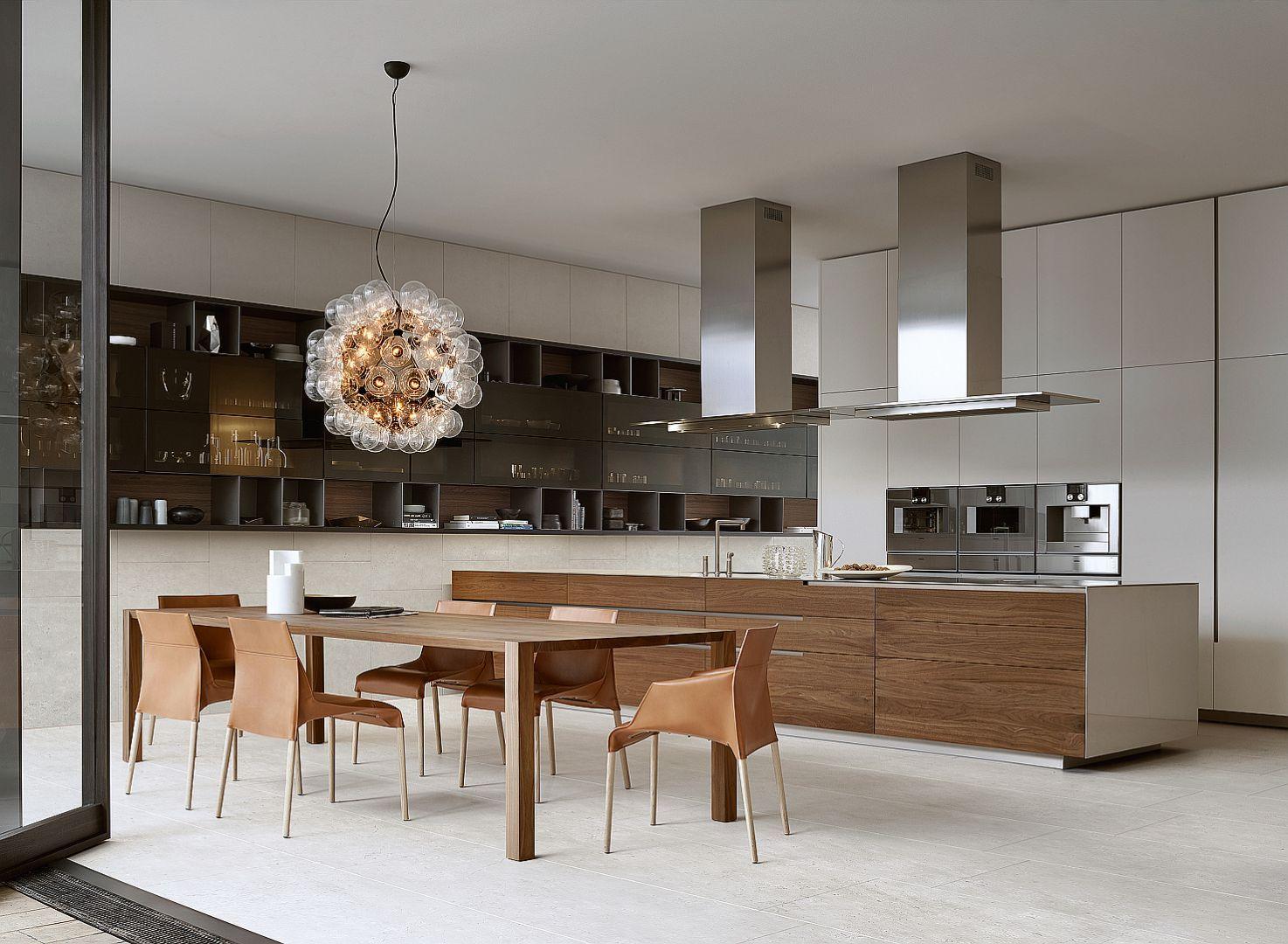 Kuchnia Polaczona Z Jadalnia Fot Poliform Varenna Kitchen Design Kitchen Dinning Room Kitchen Interior