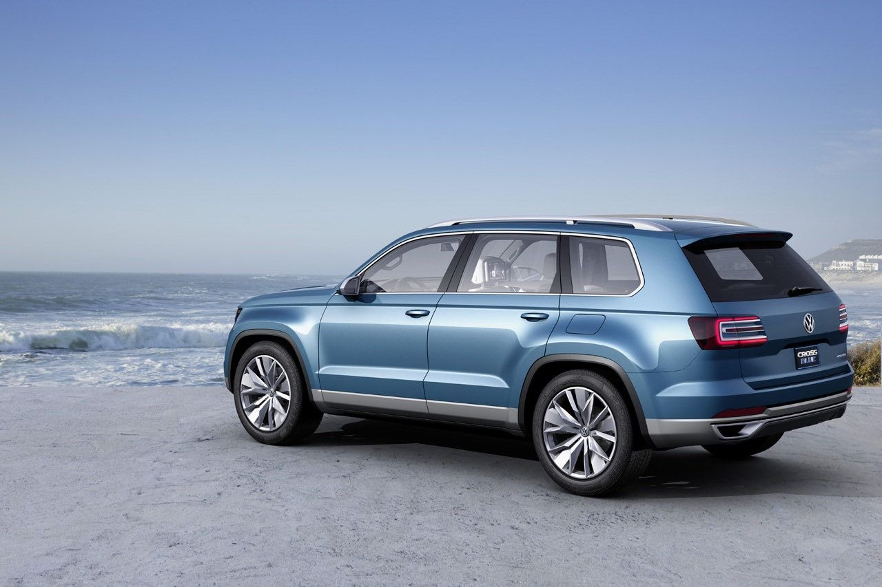 New volkswagen crossblue 6 7 seater suv concept