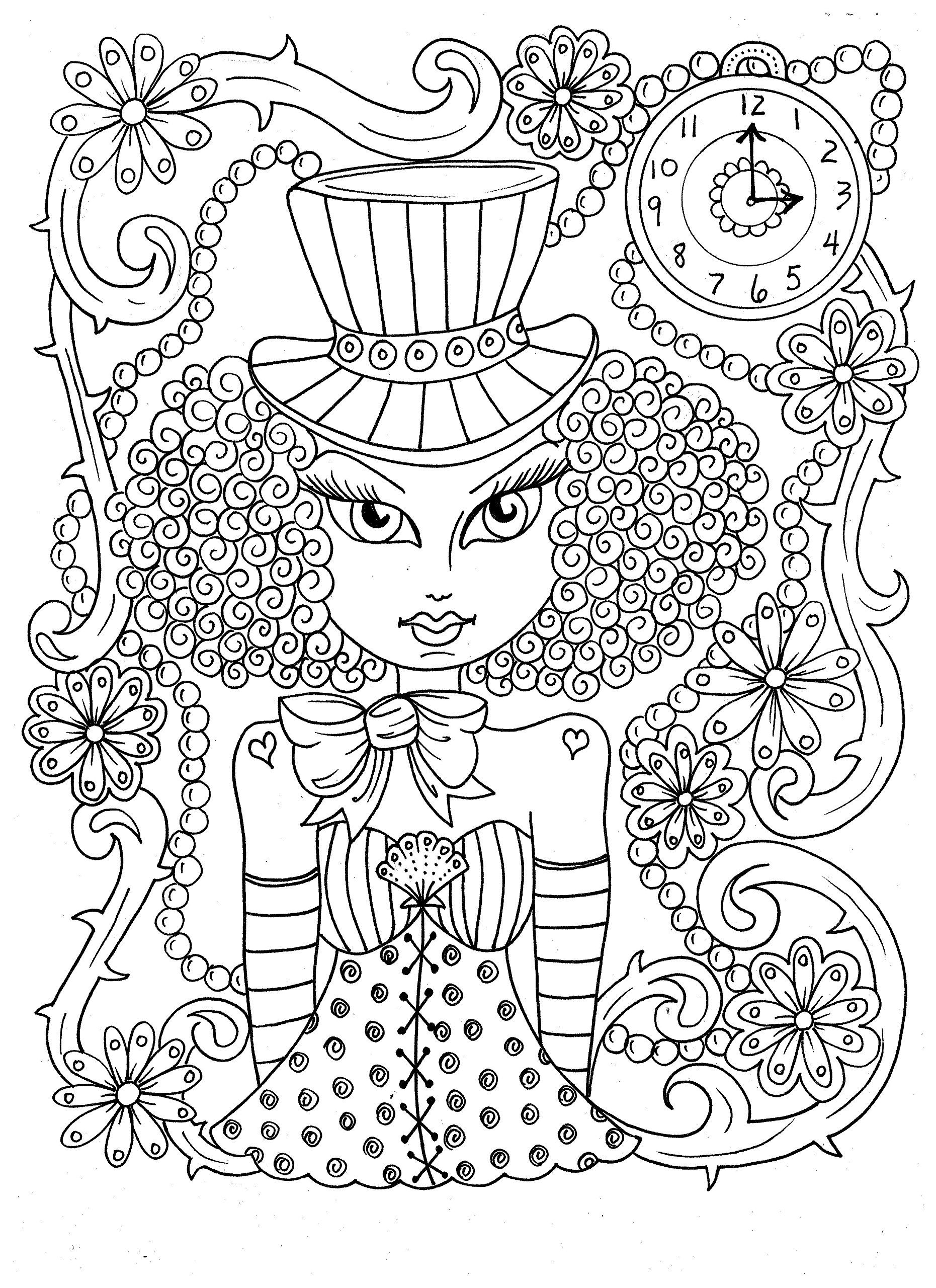 Steampunk girls cute and funky coloring fun for all ages deborah