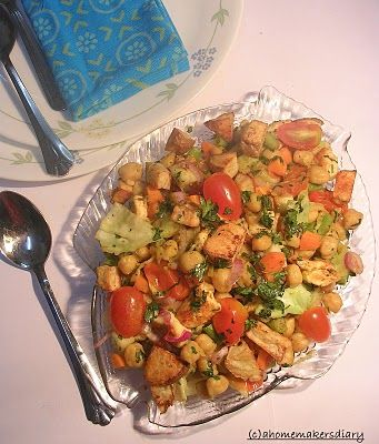 Mediterranean Chickpea Salad with Roasted Potatoes