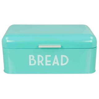 Turquoise Bread Box Home Basics Retro Bread Box Turquoise Blue Metal  Bread Boxes