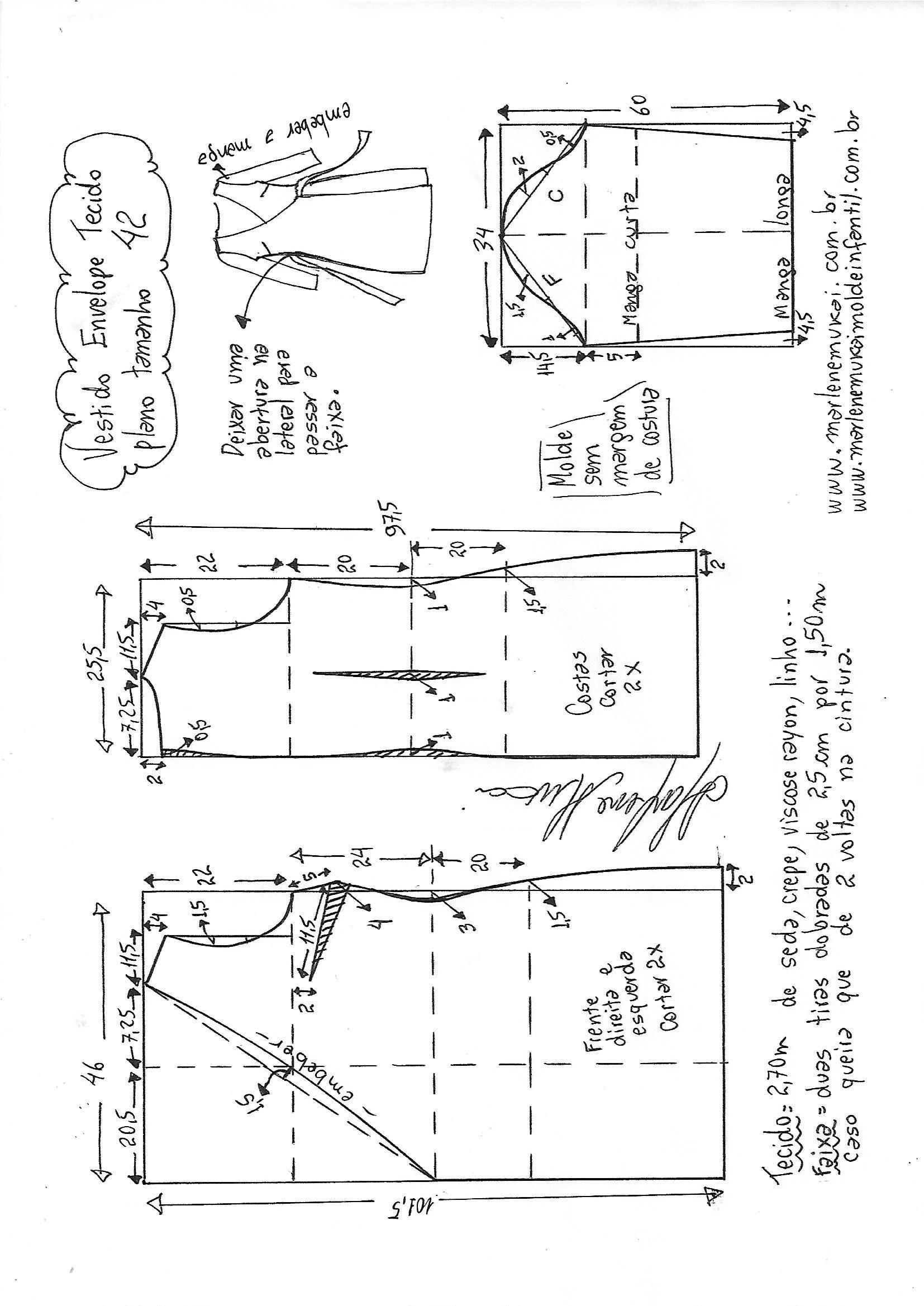 Pin de Mercedes Luna en Patrones | Pinterest | Costura, Coser ropa y ...