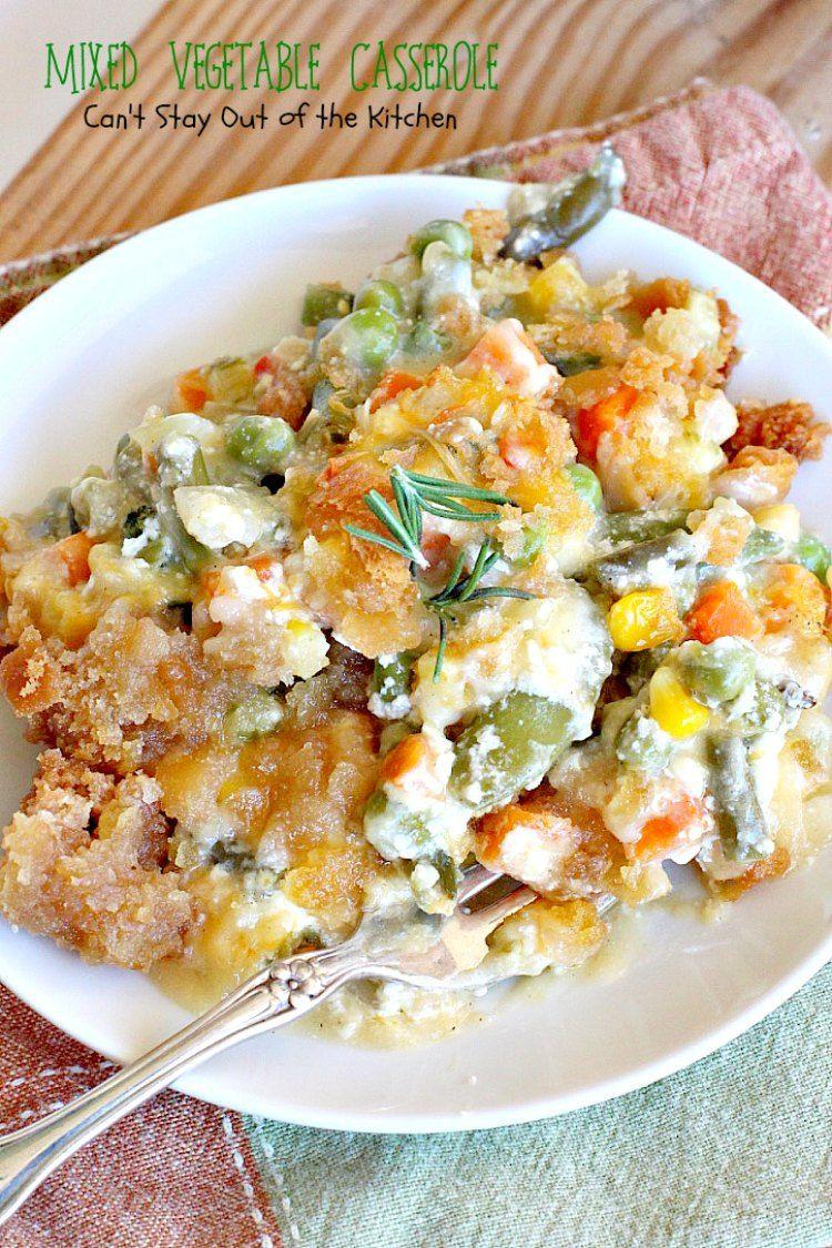 Mixed Vegetable Casserole | Recipe | Vegetable casserole ...