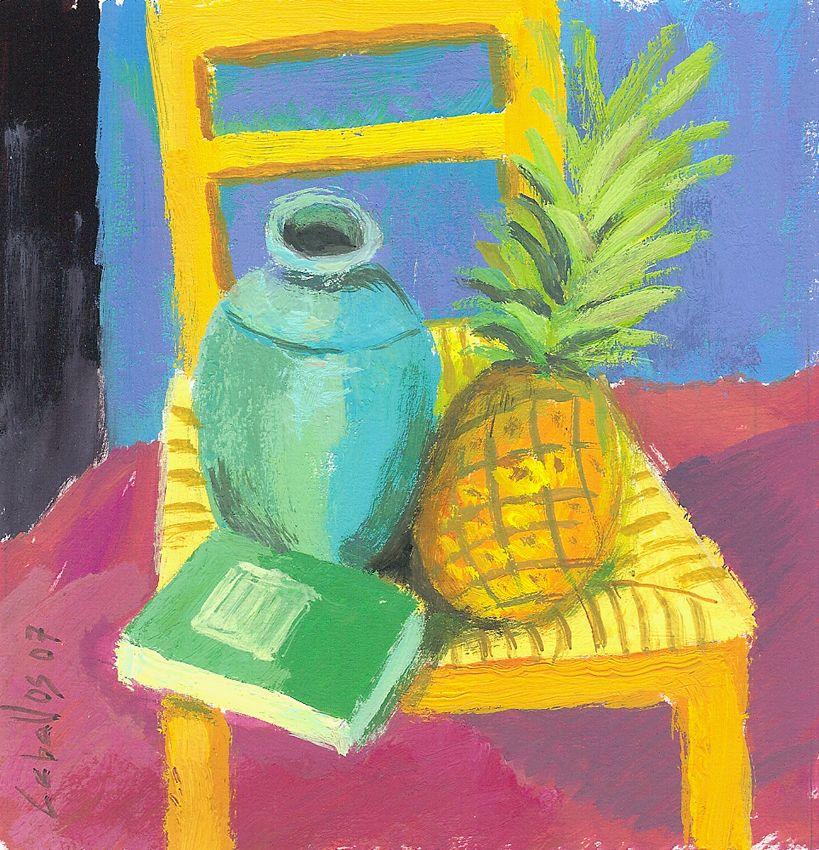Bodeg n en la silla amarilla guillermo mart ceballos for Sillas amarillas