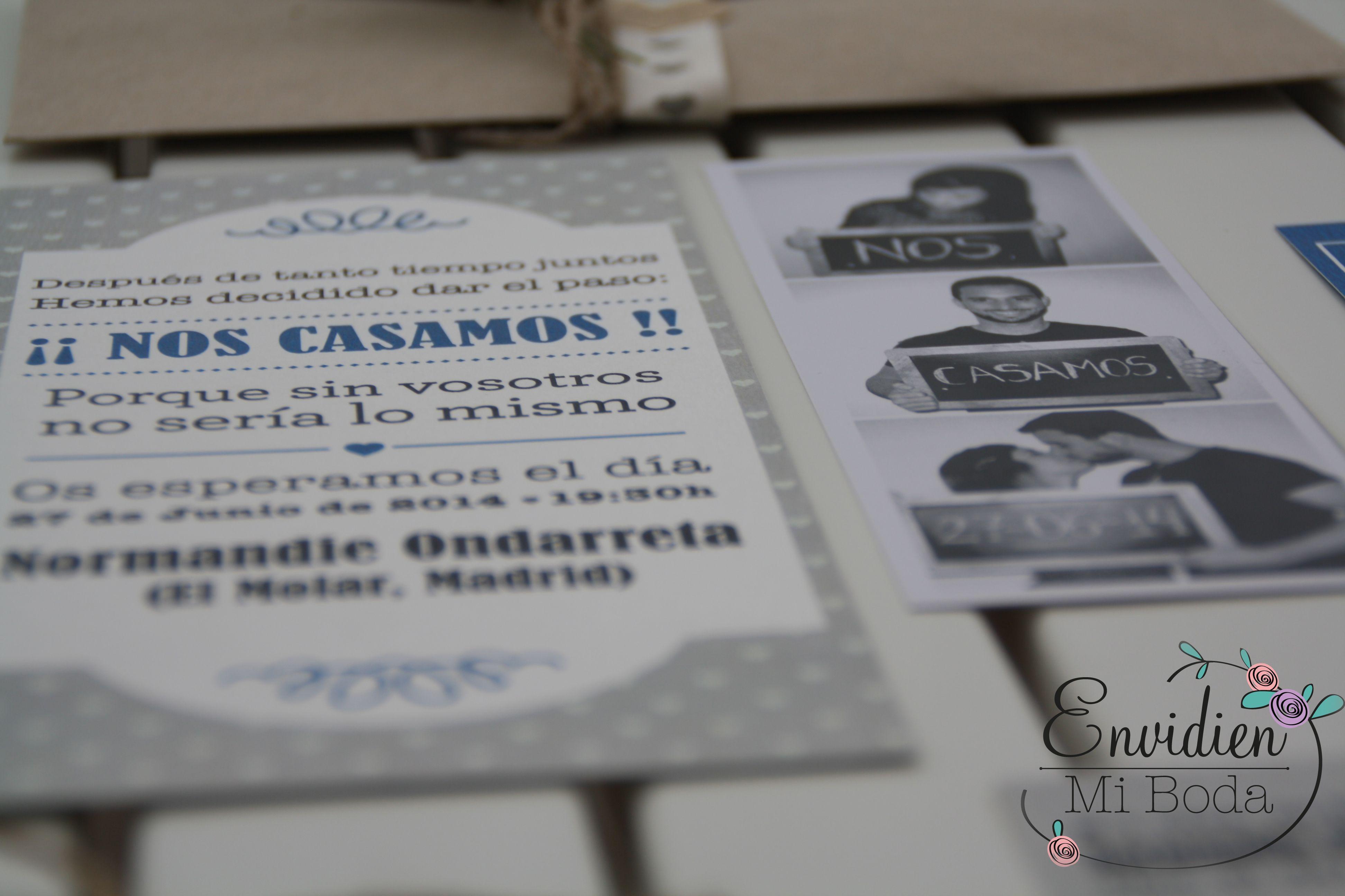 La Invitación de Marta & Alberto por MuchoChupChup | Invitaciones,  Invitaciones de boda, Invitaciones vintage