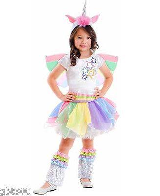 Details about Unicorn Costume Kids Girl Rainbow Tutu Dresses