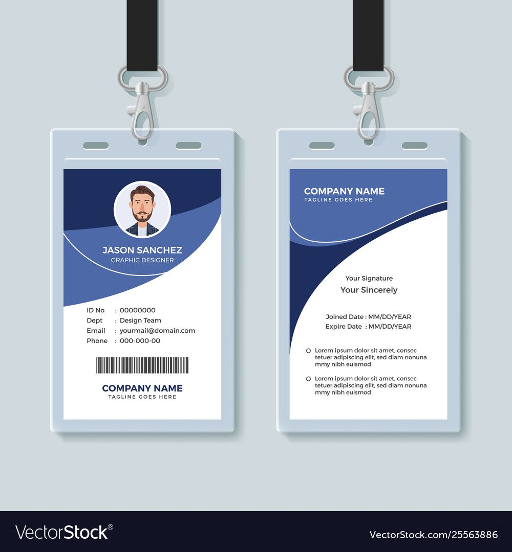 The Awesome Simple Corporate Id Card Design Template Pertaining To Company Id Card Design Template Photo Below Is Sec Company Id Corporate Id Id Card Template