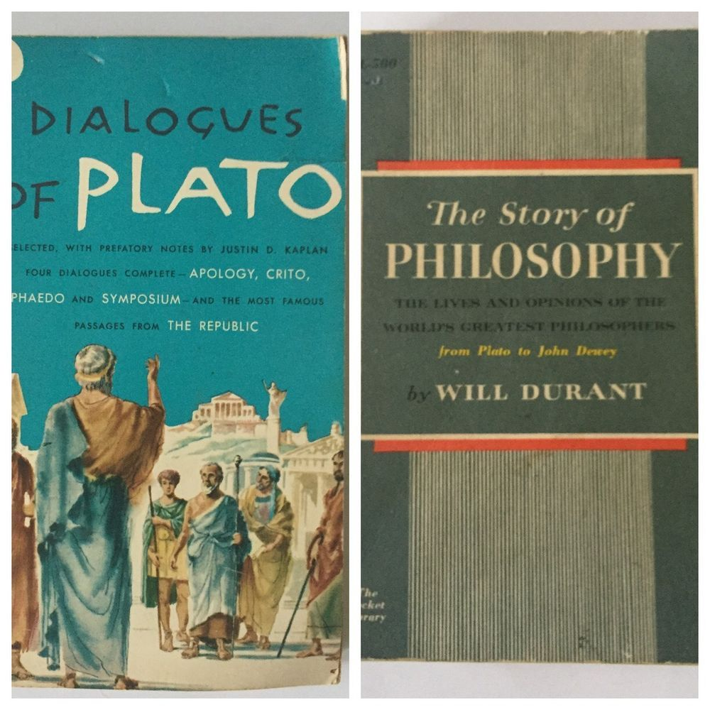 The Story Of Philosophy Will Durant And Dialogues Of Plato Vintage Book Lot Pb Ebay Philosophy Vintage Book Book Collection