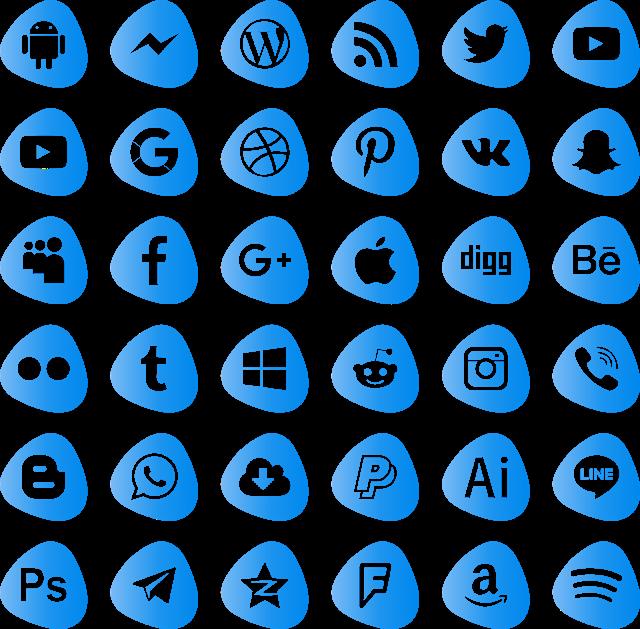 تنزيل أيقونات مواقع التواصل الإجتماعي بيكتور مجانا Svg Eps Png Psd Ai تحميل أيقونات Creative Poster Design Social Media Social Media Icons