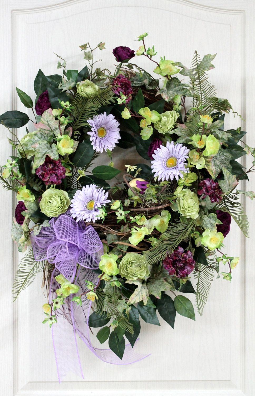 front door decorations for spring | Easter Front Door Wreath ...