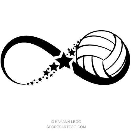 Volleyball Star Infinity Sportsartzoo Volleyball Wallpaper Volleyball Tattoos Volleyball Drawing