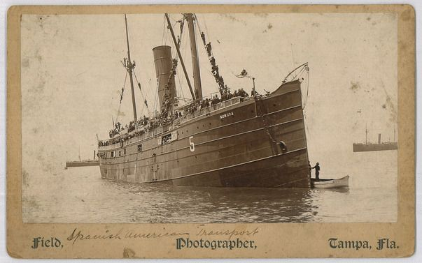 the american transport ship seneca a chartered vessel that carried troops to puerto rico and