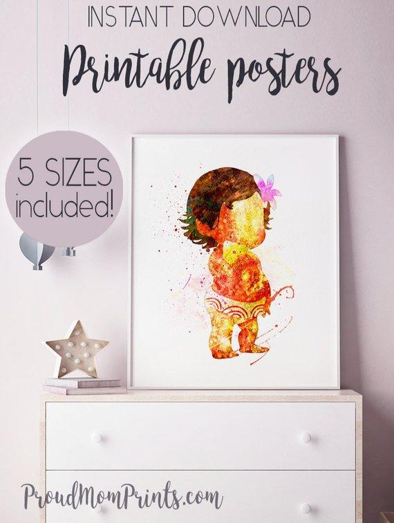 Baby Moana Clip Art Instant Download Moana Printables Disney