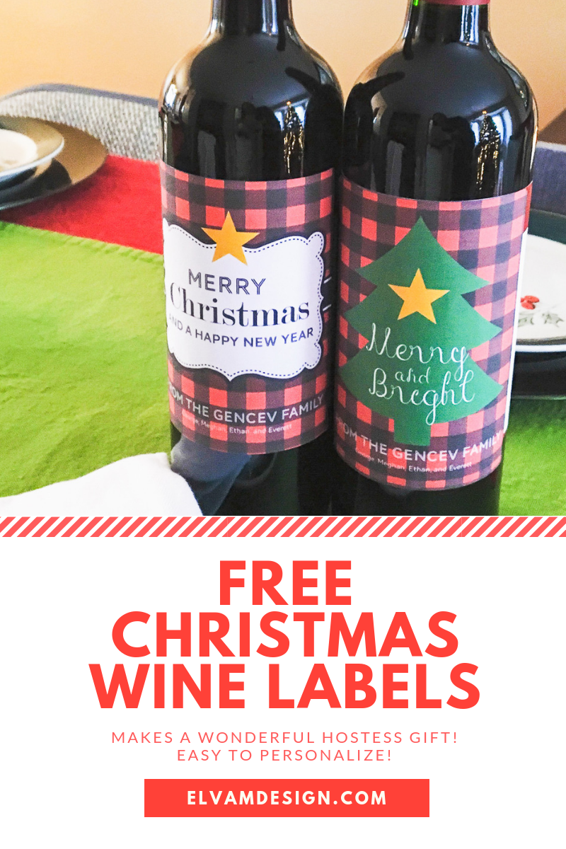 Spread cheer! Free Christmas Wine Labels is part of Christmas wine label, Christmas wine, Holiday wine label, Wine label, Free printable wine labels, Christmas printable labels - Need a quick holiday or hostess gift  Download these Free Christmas Wine Labels for a fast and easy gift  You can even personalize it for an extra touch!