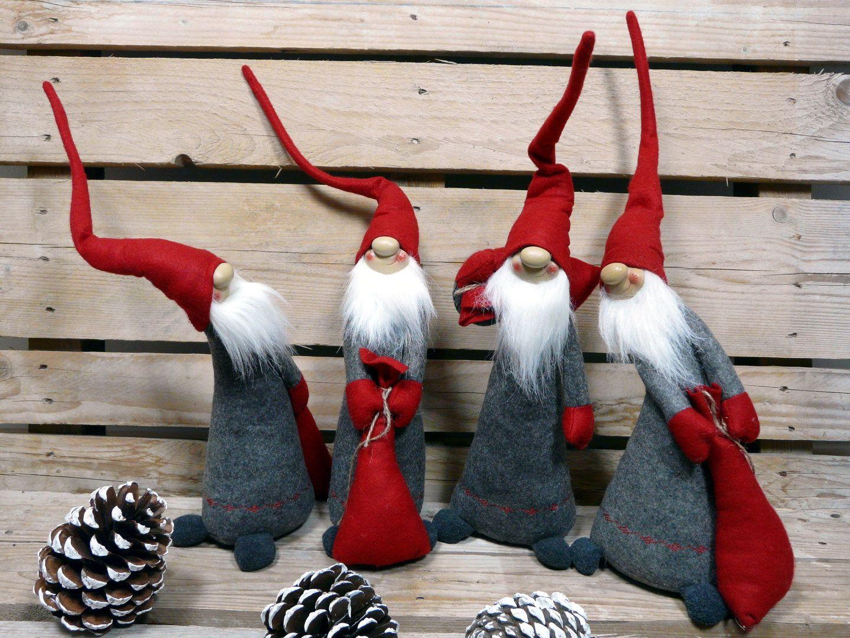 Wichtel mit Strickmütze Filzwichtel Weihnachtswichtel