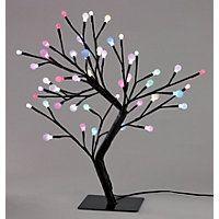 Colour Changing Tabletop Tree Light Christmas Lights Homebase Outdoor Living Diy