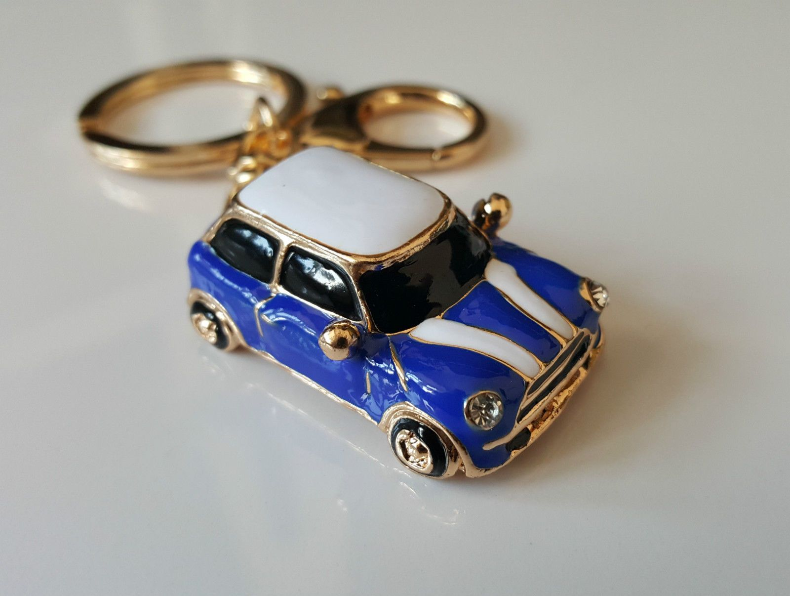 Mini #cooper #style car keyring gift blue/red/black #rhinestone detail,  View more on the LINK: http://www.zeppy.io/product/gb/2/121573821471/