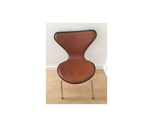 Arne Jacobsen, Syver stol, Cognac læder   Spiseborde, Stole