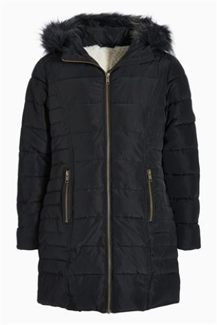 d2cd1aabf Faux Fur Hood Long Padded Jacket (3-16yrs) from Next