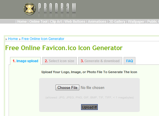 Turns A Jpg In To A Favicon Ico For Free Online Icon Icon Generator Ico