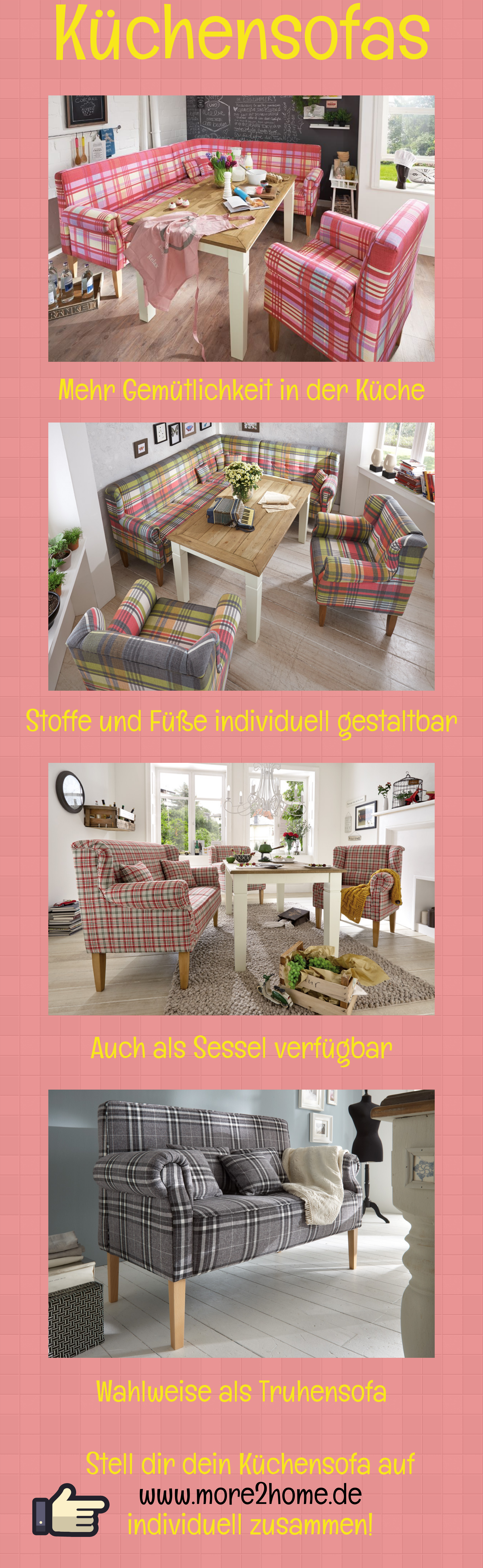 Küchensofa Tischsofa Esszimmer Landhaus Grün Stoff