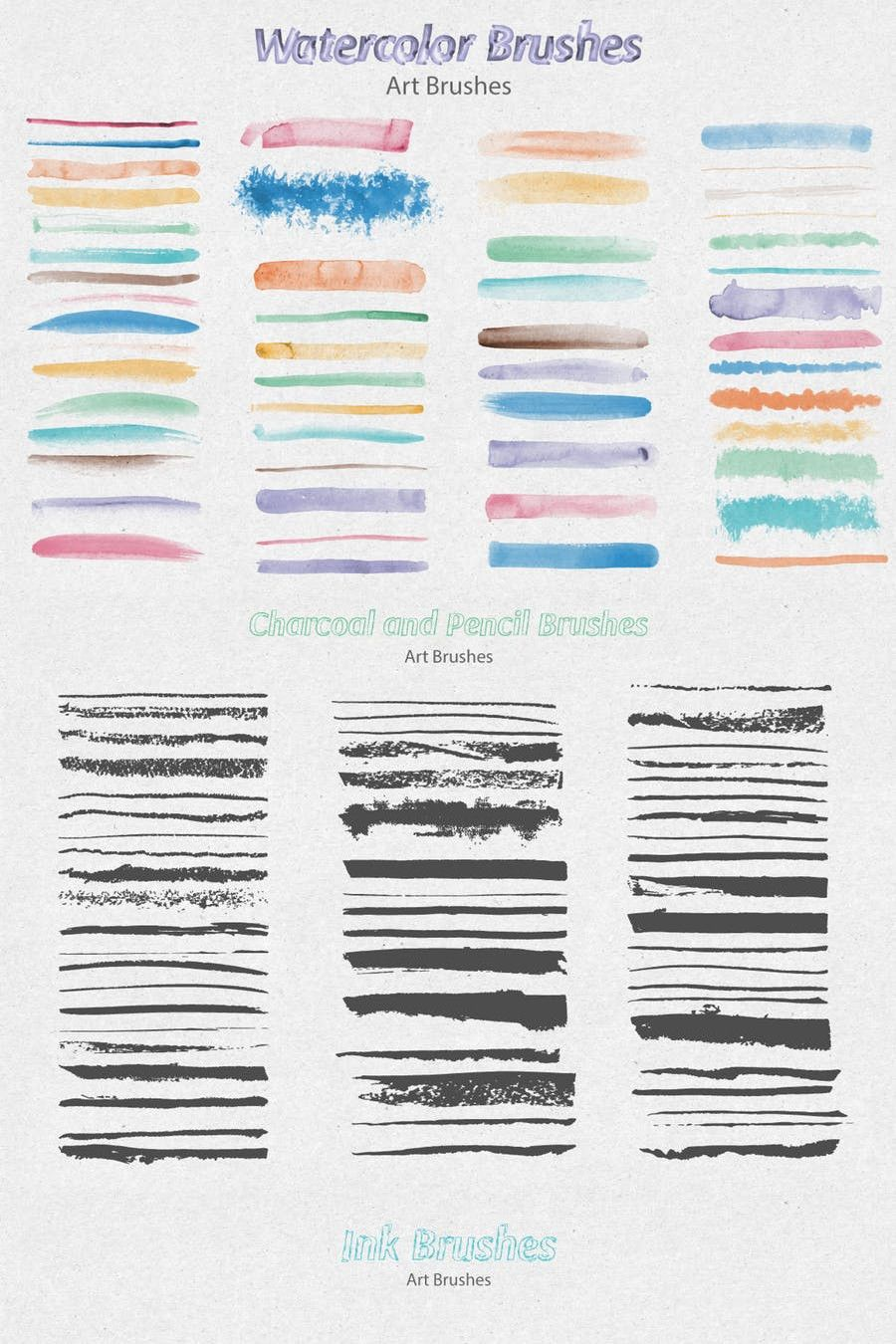 This Is A Big Collection Of Vector Hand Made Brushes For