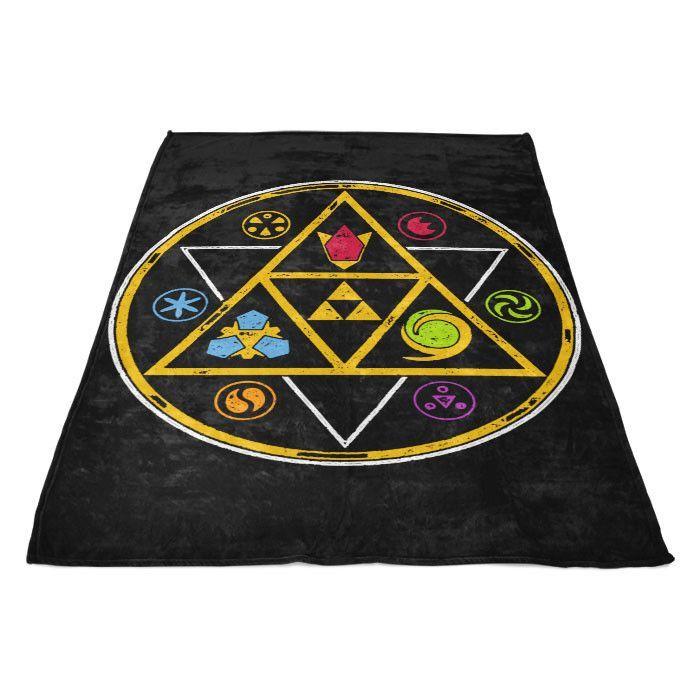 Symbols of Time - Fleece Blanket