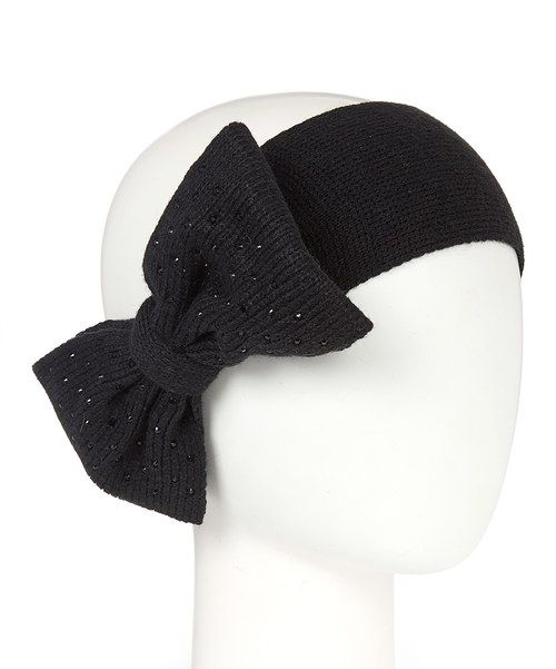 Look at this Betsey Johnson Black Bow Headband on #zulily today!